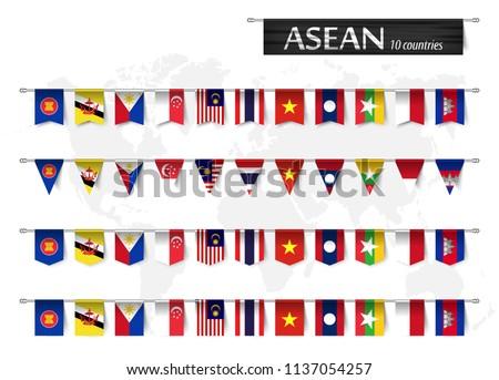 Wektora zestaw banderą Filipiny różny twórczej Zdjęcia stock © butenkow