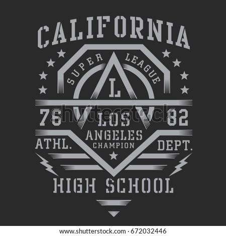 Легкая атлетика типографики футболки графика Калифорния вектора Сток-фото © Andrei_