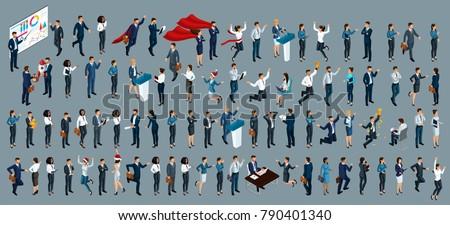 Ondernemer business isometrische vector zakenman Stockfoto © pikepicture
