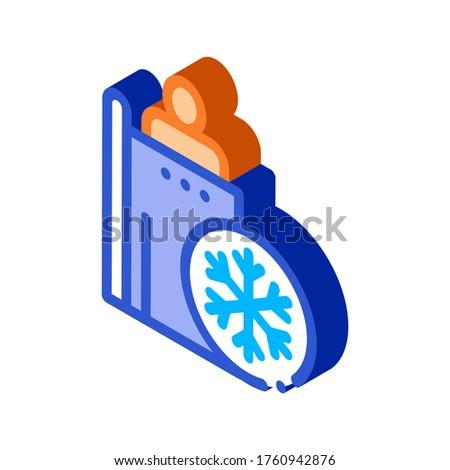 Emberek fűtés pont izometrikus ikon vektor Stock fotó © pikepicture