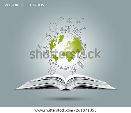 Ecologie bescherming boeken geïsoleerd witte business Stockfoto © Raduntsev