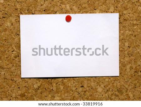 Faible blanche carte de visite attaché Cork Photo stock © latent