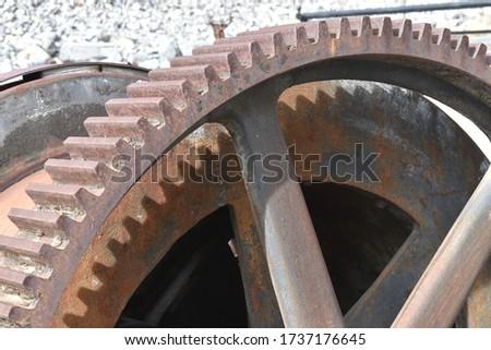 Oude rustiek boerderij uitrusting metaal mechanisch Stockfoto © jeremywhat