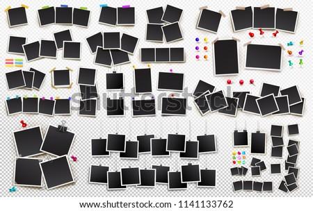 インスタント 写真 黒 ルーム 紙 壁 ストックフォト © designsstock