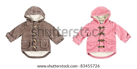 A collage made up of two corduroy jackets, warm on a white backg Stock photo © RuslanOmega