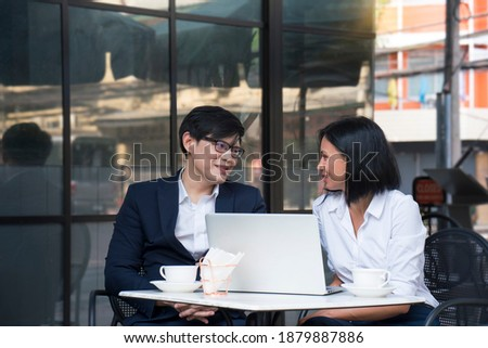 Portrait of lovely Caucasian female executive enjoying success o Stock photo © HASLOO