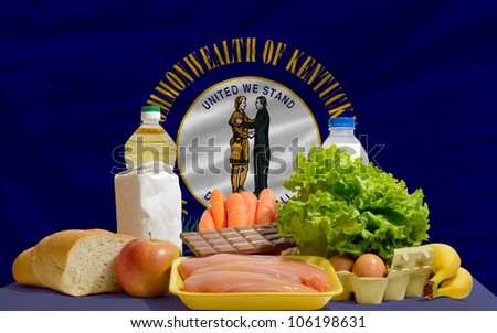 Complete Waved Flag Of American State Of Kentucky For Background Foto stock © vepar5