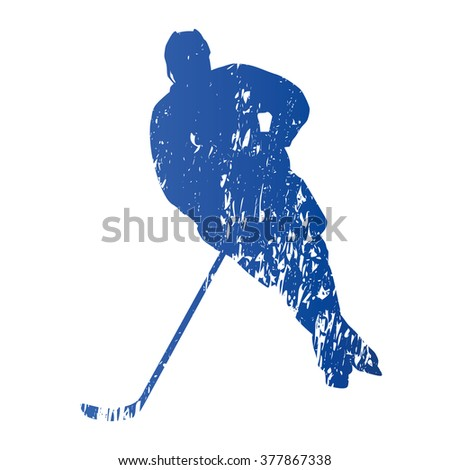 ice hockey players poster colored vector illustration for desig stock photo © leonido