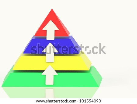 Pyramid With Up Arrows And Copyspace Showing Growth Or Progress Stock photo © stuartmiles