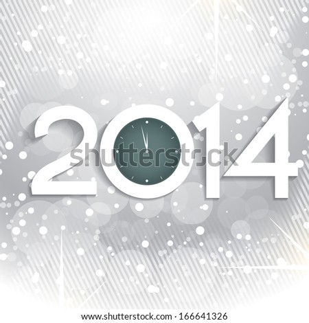 Vector 2014 Happy New Year Celebration With Watch Design Illustr Stockfoto © PinnacleAnimates