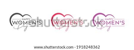 Piękna projektu dzień kobiet kolorowy karty wektora Zdjęcia stock © bharat