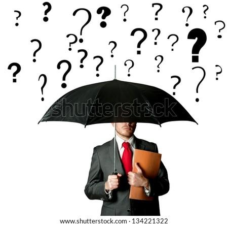 Empresário guarda-chuva percentagem chuva crédito Foto stock © stevanovicigor