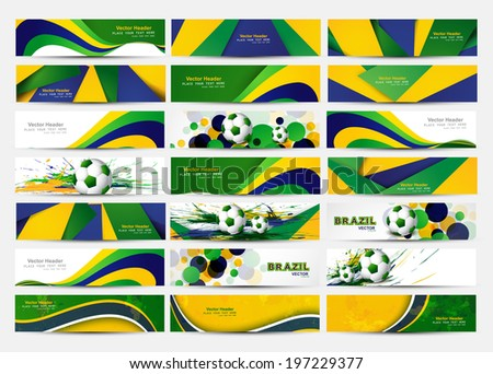 beautiful soccer ball brazil colors concept wave colorful backgr stock photo © bharat