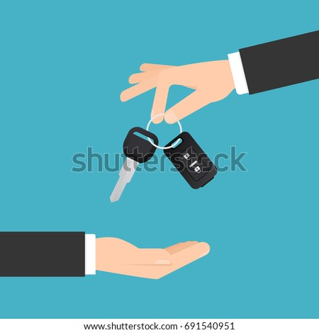 hand holding keys to new car buy or selling business compositio stock photo © simpson33