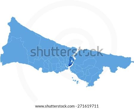 Kaart istanbul administratief wijk vector afbeelding Stockfoto © Istanbul2009