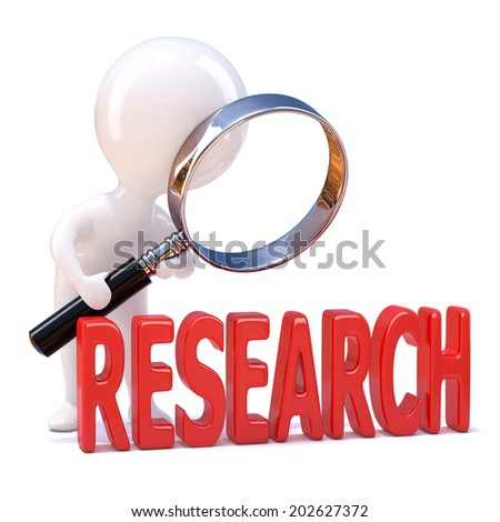 3d woman looking through magnifying glass small woman concept Stock photo © nithin_abraham