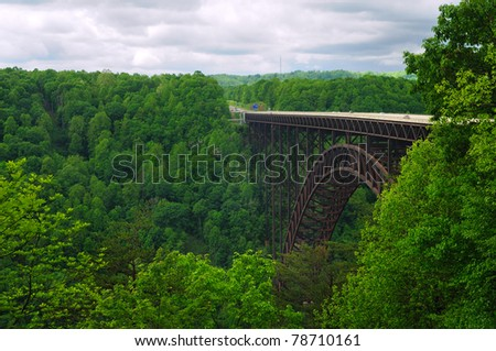 West Virginia's New River Gorge bridge carrying US 19 over the g stock photo © alex_grichenko