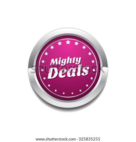 Mighty Deals Pink Vector Button Icon Stock photo © rizwanali3d