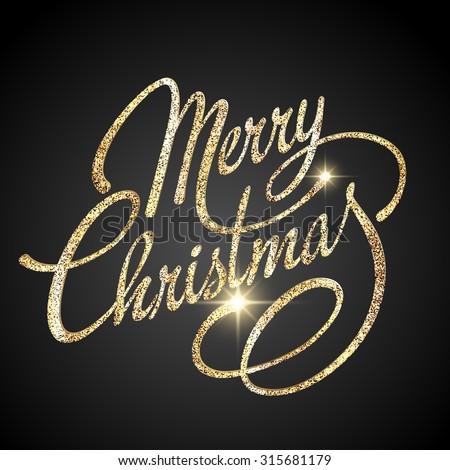 Altın neşeli Noel altın Stok fotoğraf © rommeo79