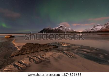 neşeli · Noel · form · kuzey · ışıklar · gökyüzü - stok fotoğraf © rommeo79