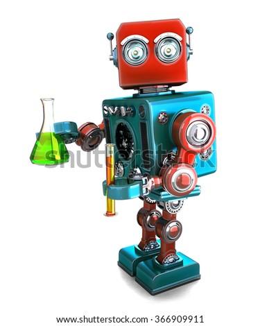 Retro robot laboratorium wyroby szklane odizolowany Zdjęcia stock © Kirill_M
