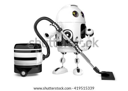 Cute робота пылесос изолированный 3d иллюстрации Сток-фото © Kirill_M