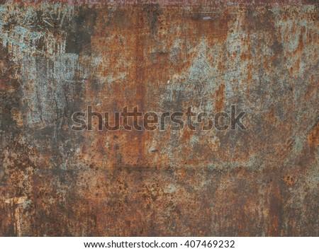 Paslı Metal eski duvar boya arka plan Stok fotoğraf © koca777