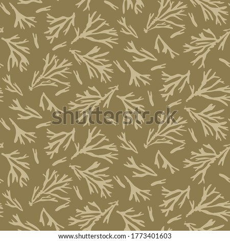 Green Neutral Seamless Pattern for Modern Design in Flat Style. Stock photo © almagami