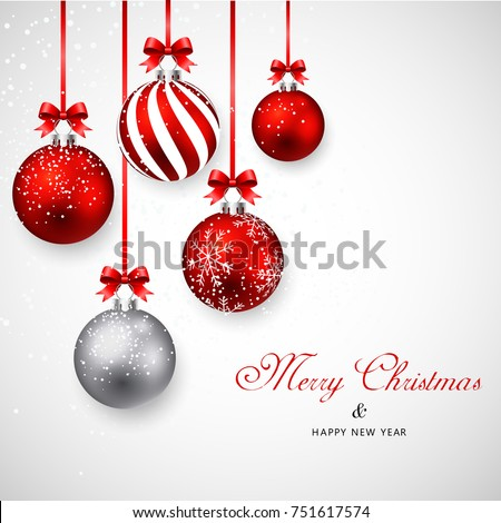 beautiful merry christmas decoration background in purple shade  Stock photo © SArts