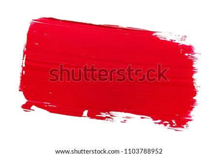 Red lipstick with reflection isolated on white background with c Stock photo © kayros