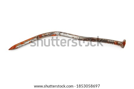bent nail isolated industrial object fastening on white backgr stock photo © popaukropa