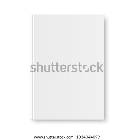 book cover template vector realistic illustration isolated on gray background empty white clean wh stock photo © pikepicture