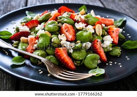 Groene bonen salade plantaardige maaltijd dieet concept Stockfoto © M-studio