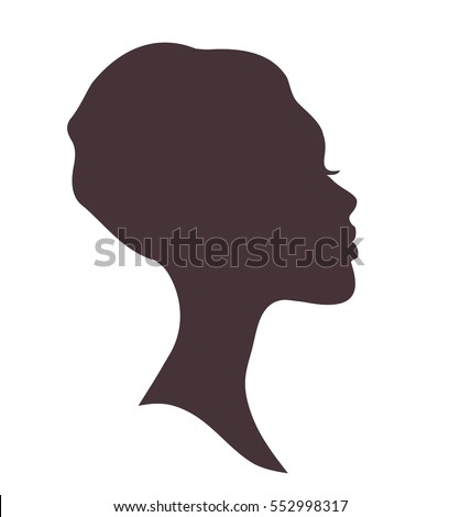 Young woman head silhouette with stylish african national headdress Stock photo © ESSL