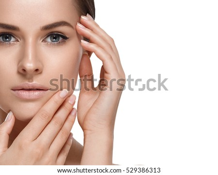 schoonheid · model · perfect · glanzend · bruin · haar - stockfoto © deandrobot