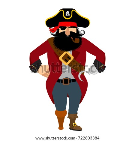 Pirata isolado olho fumador tubo Foto stock © popaukropa