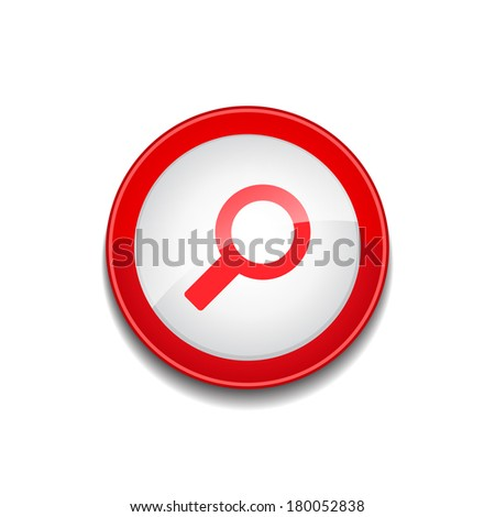 Search Magnifying Glass Round Vector Web Element Circular Button Stock photo © rizwanali3d
