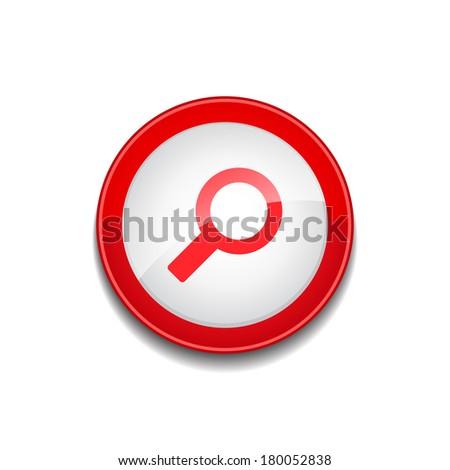 Búsqueda lupa vector web elemento circular Foto stock © rizwanali3d