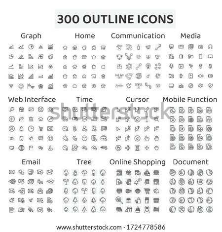 веб-иконы набор Инфографика СМИ связи дизайна Сток-фото © Terriana
