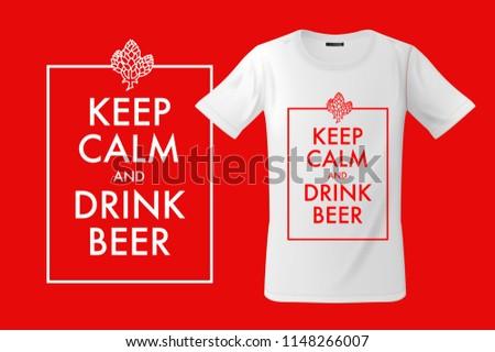 Drinken bier print mobiele telefoons mode Stockfoto © ikopylov