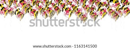 Stock fotó: Léggömbök · keret · zászló · Maryland · Egyesült · Államok · helyi