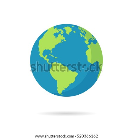 Flat vector illustration of planet Earth and space icons. Astron Stock photo © dejanj01