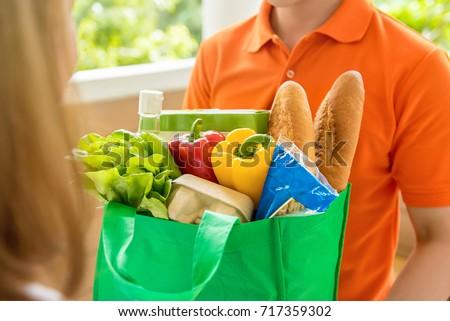 食料品 ショッピングバッグ クローズアップ 幸せ ストックフォト © Kzenon