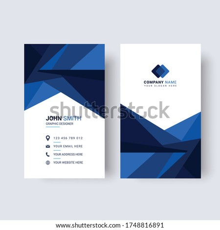 professional vertical business card modern design in red black t Stock photo © SArts