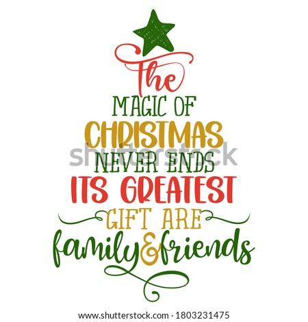 vidám · karácsony · tipográfia · felirat · ünnep · kívánság - stock fotó © jeksongraphics