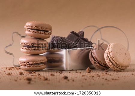 Luxury chocolate candy with hazelnuts and cocoa cream on white b Stock photo © DenisMArt