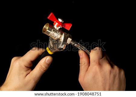 водопроводчика ключа ПВХ трубы строительная площадка Сток-фото © feverpitch