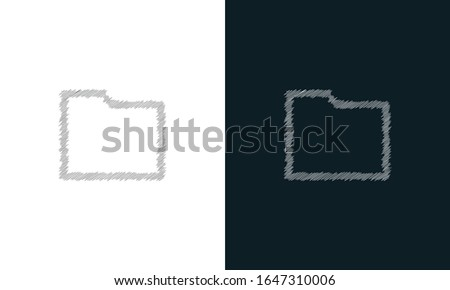 Folder Icon with letter i as info in trendy flat style isolated on white background, for your web si stock photo © kyryloff
