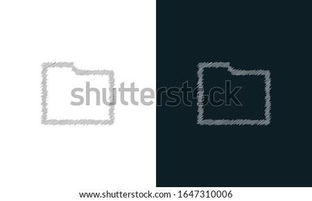 Dobrador ícone letra i informações estilo Foto stock © kyryloff