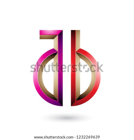 Magenta and Red Key-like Symbol of Letters A and B Vector Illust Stock photo © cidepix